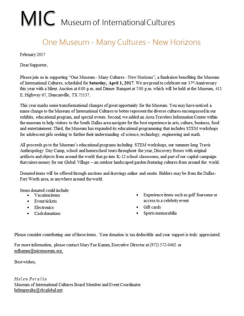 mic-37th-anniversary-banquet-auction-letter | Museum of